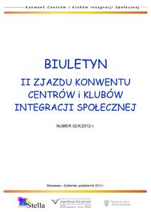Biuletyn II Konwentu Centrów i Klubów Integracji Społecznej