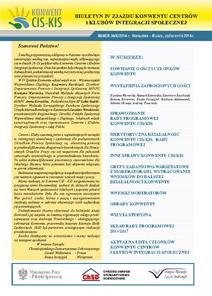 Biuletyn IV Konwentu Centrów i Klubów Integracji Społecznej